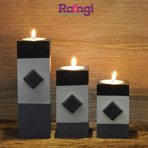 جا شمعی چوبی
