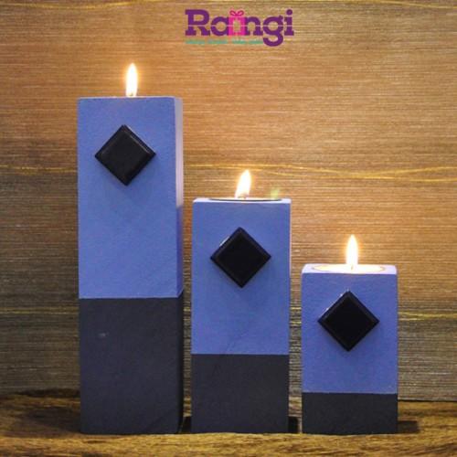 جا شمعی چوبی بنفش