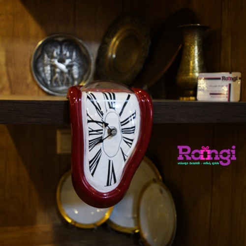 ساعت سالوادور دالی قرمز