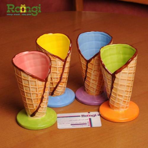 بستنی خوری رنگی سفالی