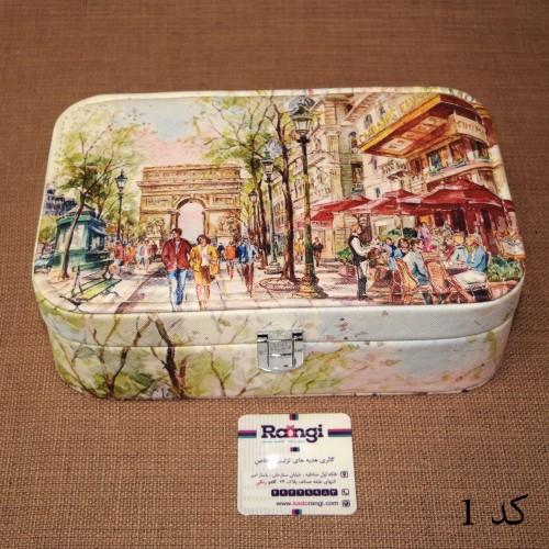 خرید اینترنتی جعبه جواهر چرمی طرح ایتالیا