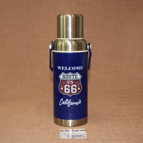 فلاسک مسافرتی اسپرت فلزی آبی620 ml