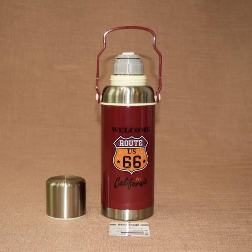 فلاسک مسافرتی اسپرت فلزی قرمز620 ml
