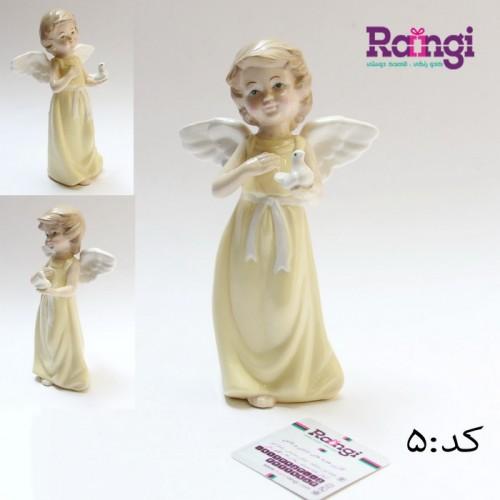 خرید اینترنتی مجسمه فرشته سرامیکی بالدار-فروشگاه مجسمه