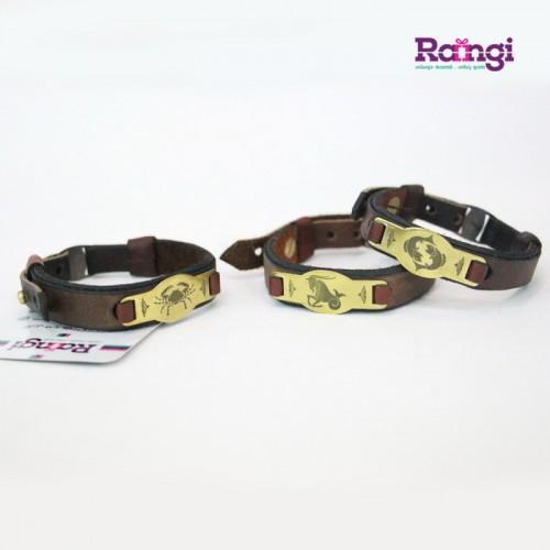 خرید دستبند چرم ماه تولد
