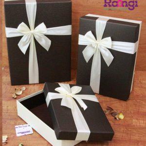 خرید جعبه کادویی مستطیل کرم قهوه ای-فروشگاه اینترنتی جعبه کادویی