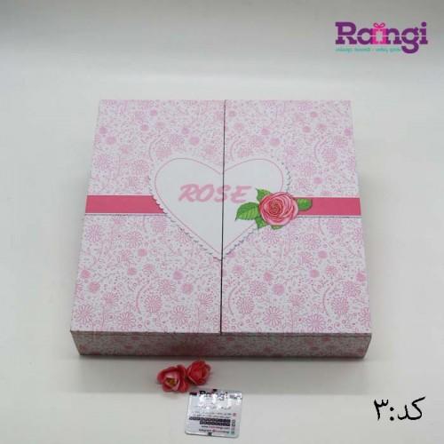 جعبه تی بگ طرح گل و قلب