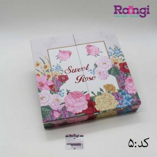 جعبه تی بگ زیبای گل رز