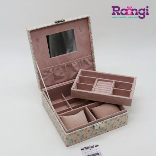 جعبه جواهرات چرمی مربعی