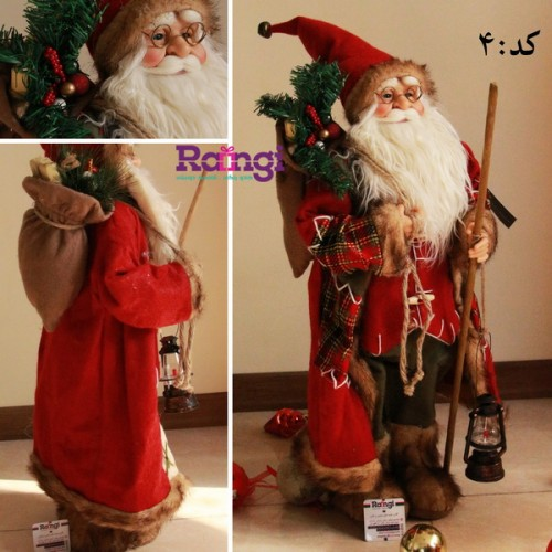 بابانوئل کریسمس با فانوس