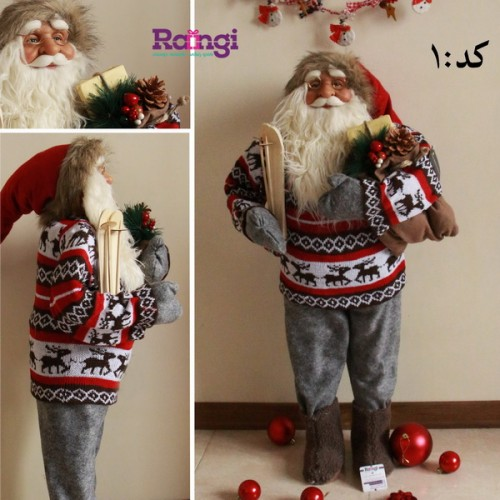 بابانوئل کریسمس با کوله بدون پالتو