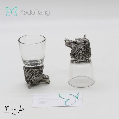 ظروف نوشیدنی دکوری مجسمه گرگ