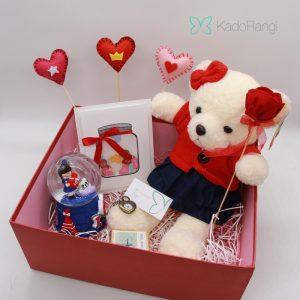 پک هدیه ولنتاین طرح خرس قرمز