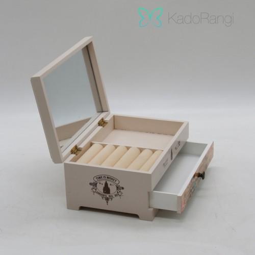 جعبه جواهرات چوبی طرح لندن