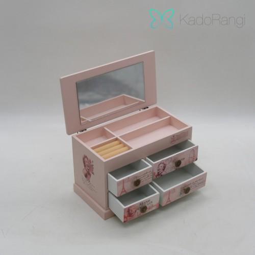 فروش جعبه جواهرات چوبی کشودار