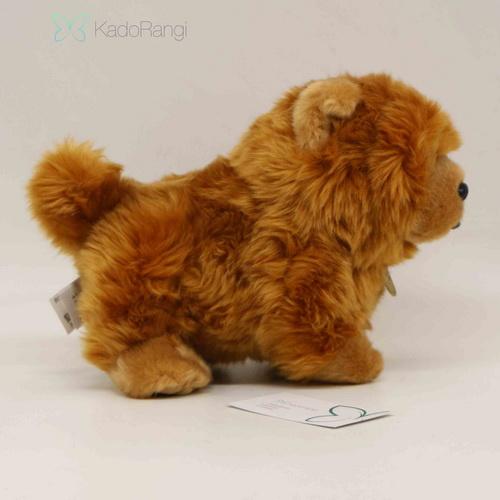 خرید عروسک سگ پشمالو قهوه ای