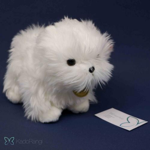 خریدد اینترنتی عروسک سگ پشمالو سفید