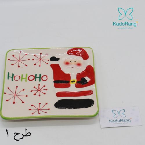 بشقاب سفالی بابانوئل