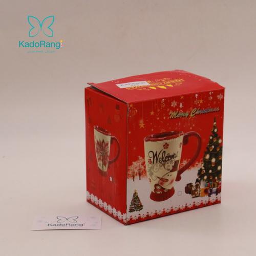 جعبه لیوان دسته قرمز کریسمس