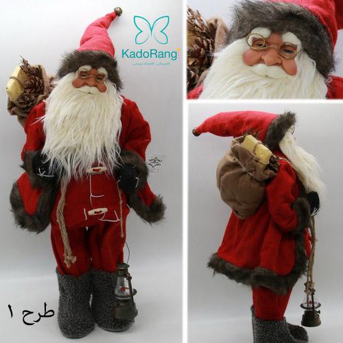 ماکت بابانوئل 60 سانتی با فانوس