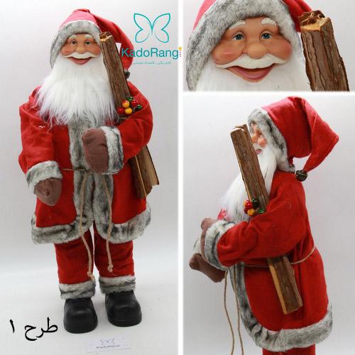 عروسک بابانوئل با قد متوسط و لباس کامل