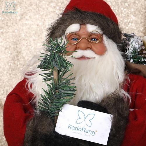 عروسک بابانوئل متوسط عینکی