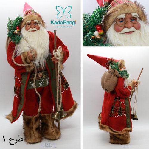 عروسک بابانوئل 60 سانتی با زنگوله