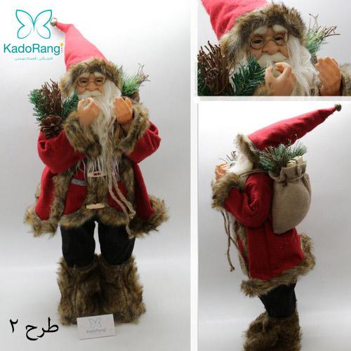 عروسک بابانوئل 60 سانتی با کوله هدایا