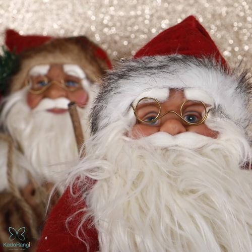 عروسک بابانوئل 60 سانتی با عینک
