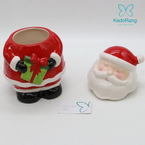 ظرف مجسمه ای درب دار بابانوئل نقش برجسته
