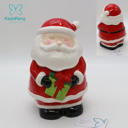 ظرف مجسمه ای درب دار بابانوئل با قابلیت شستشو