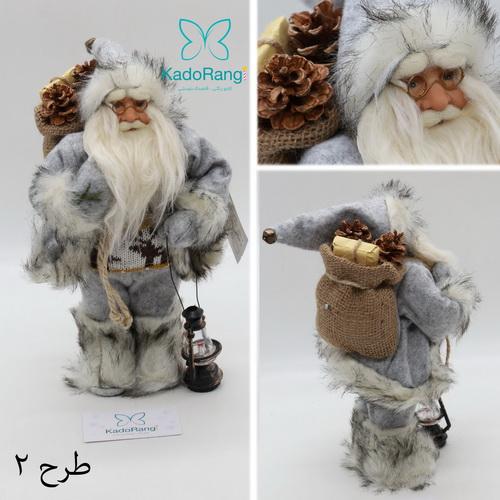 بابانوئل 30 سانتی کریسمس با کوله هدایا