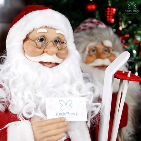 عروسک بابانوئل با ارتفاع 90 سانت و عینک