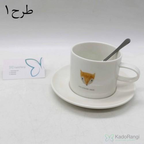 فنجان نعلبکی طرح حیوانات