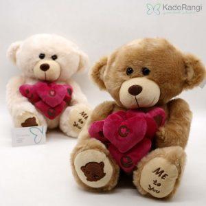 خرید اینترنتی عروسک خرس قلب به دست ME TO YOU
