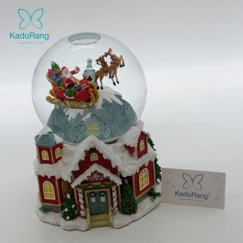 گوی برفی خانه کریسمسی برفی