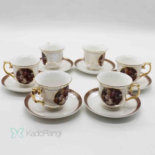 مجموعه فنجان نعلبکی طرح فرانسوی
