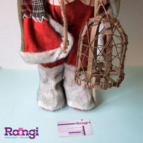 عروسک بابانوئل کریسمس با فانوس
