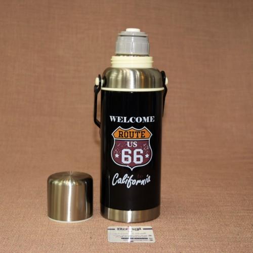 فلاسک مسافرتی اسپرت فلزی مشکی620 ml