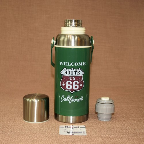 فلاسک مسافرتی اسپرت فلزی سبز620 ml