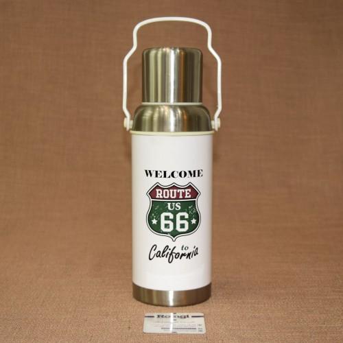 فلاسک مسافرتی اسپرت فلزی سفید620 ml