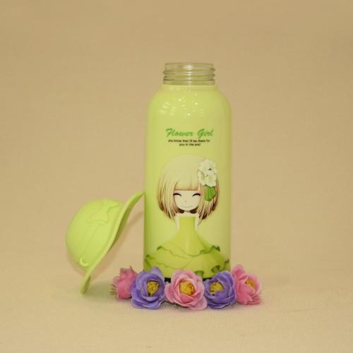 فلاسک دخترانه کلاه دار 350 ml سبز