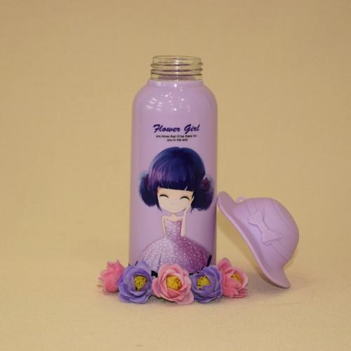 فلاسک دخترانه کلاه دار 350 ml بنفش