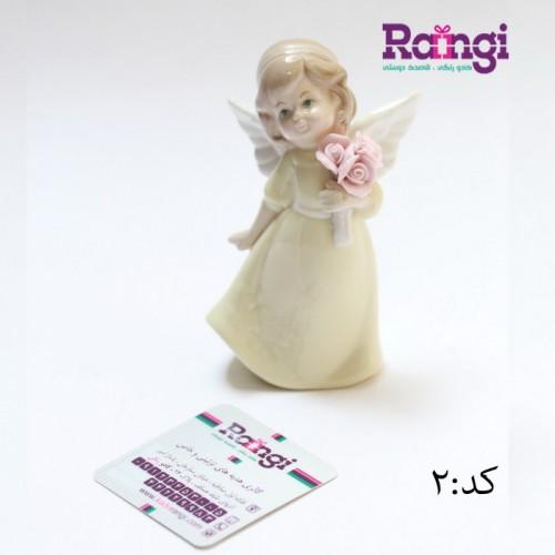 فرشته سرامیکی بالدار