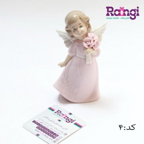 مجسمه فرشته با دسته گل