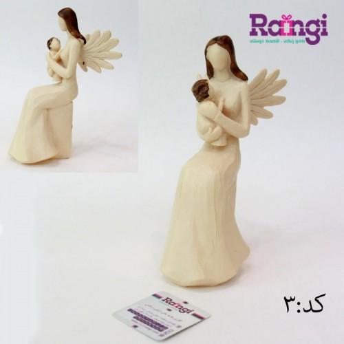 مجسمه فرشته مادر و نوزاد