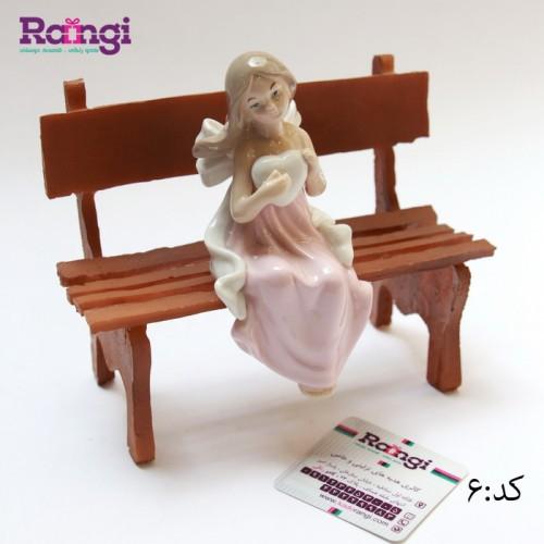 خرید مجسمه فرشته نشسته سرامیکی