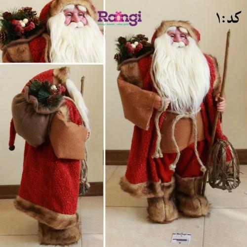 خرید بابانوئل با سایز متوسط و لوارم تزیینی