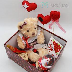 خرید پک عروسک ولنتاین طرح خرس عاشق