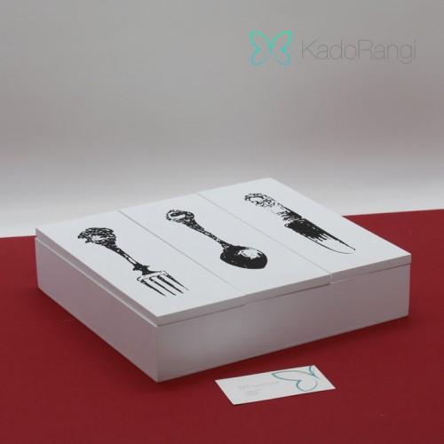 خرید جعبه جاقاشقی چوبی
